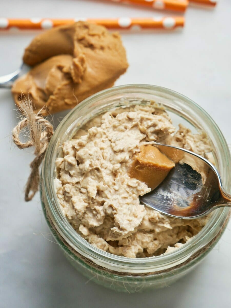 Peanut Butter Overnight Oats (easy) via @nofusskitchen